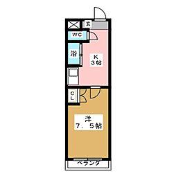アイルーム一ッ木I[2階]の間取り