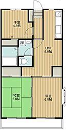 ドミール黒澤[2階]の間取り