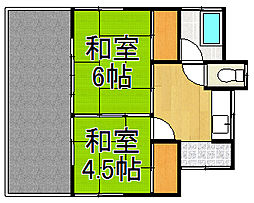 [一戸建] 埼玉県越谷市赤山町3丁目 の賃貸【/】の間取り