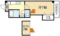 ユイリアン(Huit Lien)[4階]の間取り