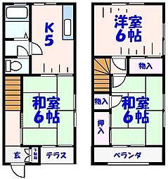[テラスハウス] 千葉県市川市稲荷木3丁目 の賃貸【/】の間取り