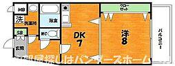 大阪府枚方市宮之阪1丁目の賃貸マンションの間取り
