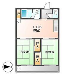 愛知県名古屋市守山区長栄の賃貸マンションの間取り