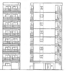 建物予想立面図