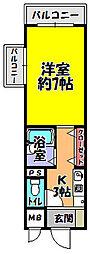 アヴァンセ21[2階]の間取り