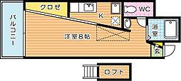 gc21netビル(ジーシー21ネットビル)[6階]の間取り