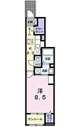 つくばエクスプレス つくば駅 バス12分 桜窓口センター入口下車 徒歩9分の賃貸アパート 1階1Kの間取り