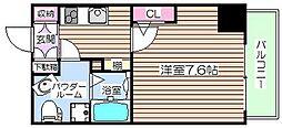 大阪府大阪市福島区玉川3丁目の賃貸マンションの間取り
