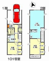 [テラスハウス] 千葉県松戸市松戸 の賃貸【/】の間取り