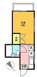 東京都世田谷区経堂3丁目の賃貸マンションの間取り
