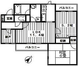 宮崎台南スカイマンション[305号室]の間取り
