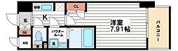 アーデン谷町[12階]の間取り