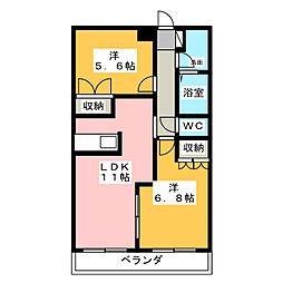 アイミーハイム[1階]の間取り