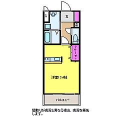 新潟県新潟市西区小新4丁目の賃貸マンションの間取り