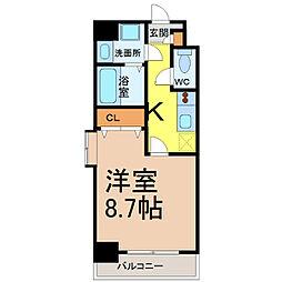 PRESTAGE名駅(プレステージ名駅)[4階]の間取り