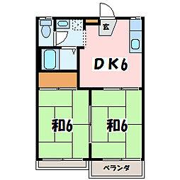 タウニーツー1[2階]の間取り