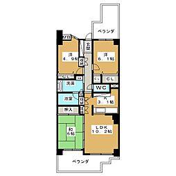 山手通シティハウス 1203号室[12階]の間取り