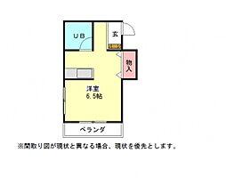 愛知県一宮市桜1丁目の賃貸マンションの間取り
