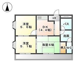 ヒルズシャトーII[2階]の間取り
