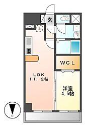 フォレシティ新栄[2階]の間取り