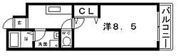 プレシャスワイエム[7階]の間取り