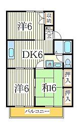 セジュールYK[2階]の間取り