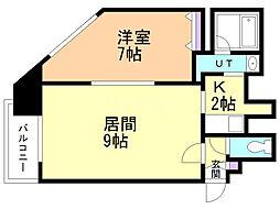 フォレスト円山 7階1LDKの間取り