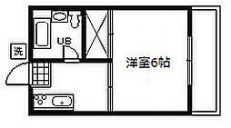 東京都府中市朝日町2丁目の賃貸アパートの間取り