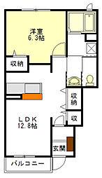 カーサ中野 B棟[1階]の間取り