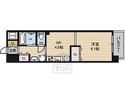 アフィニティ21 3階1DKの間取り