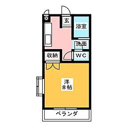 フラワーハイツ[1階]の間取り
