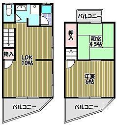 [テラスハウス] 大阪府堺市東区北野田 の賃貸【/】の間取り