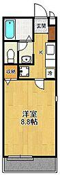 リタフラッツA[2階]の間取り