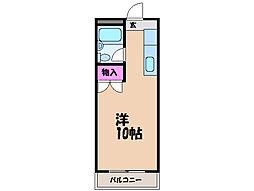 愛媛県松山市室町の賃貸マンションの間取り