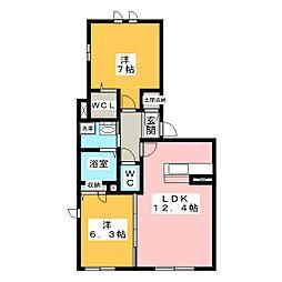 新築シャンテ クレール[2階]の間取り