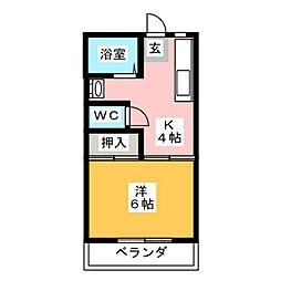 ジョーハウス[2階]の間取り