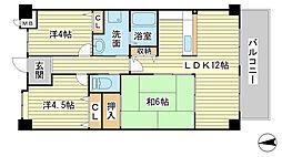 O−2マンション B棟[B302号室]の間取り