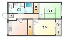 パラシオン菊水[2階]の間取り