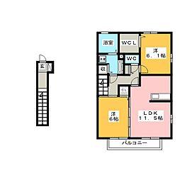 シーホスA[2階]の間取り
