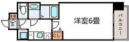 プレサンス梅田東アルファ[8階]の間取り
