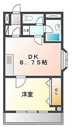 メゾン三京[3階]の間取り