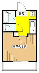 クレセントハウス[1階]の間取り