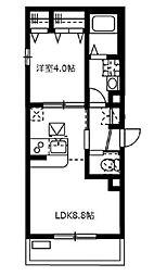 APEXシフォン[3階]の間取り