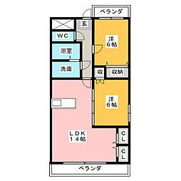 マイタウン松阪[1階]の間取り