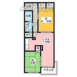 メゾンドブリックI[3階]の間取り