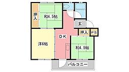 姫路青山住宅(5)[324号室]の間取り