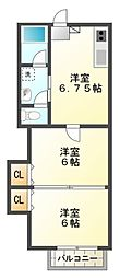 ベーネ1[2階]の間取り