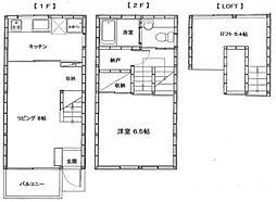神奈川県横浜市神奈川区入江1丁目の賃貸アパートの間取り