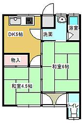 若宮荘[7号室号室]の間取り