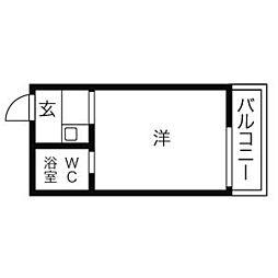 ドール本願寺[102号室]の間取り